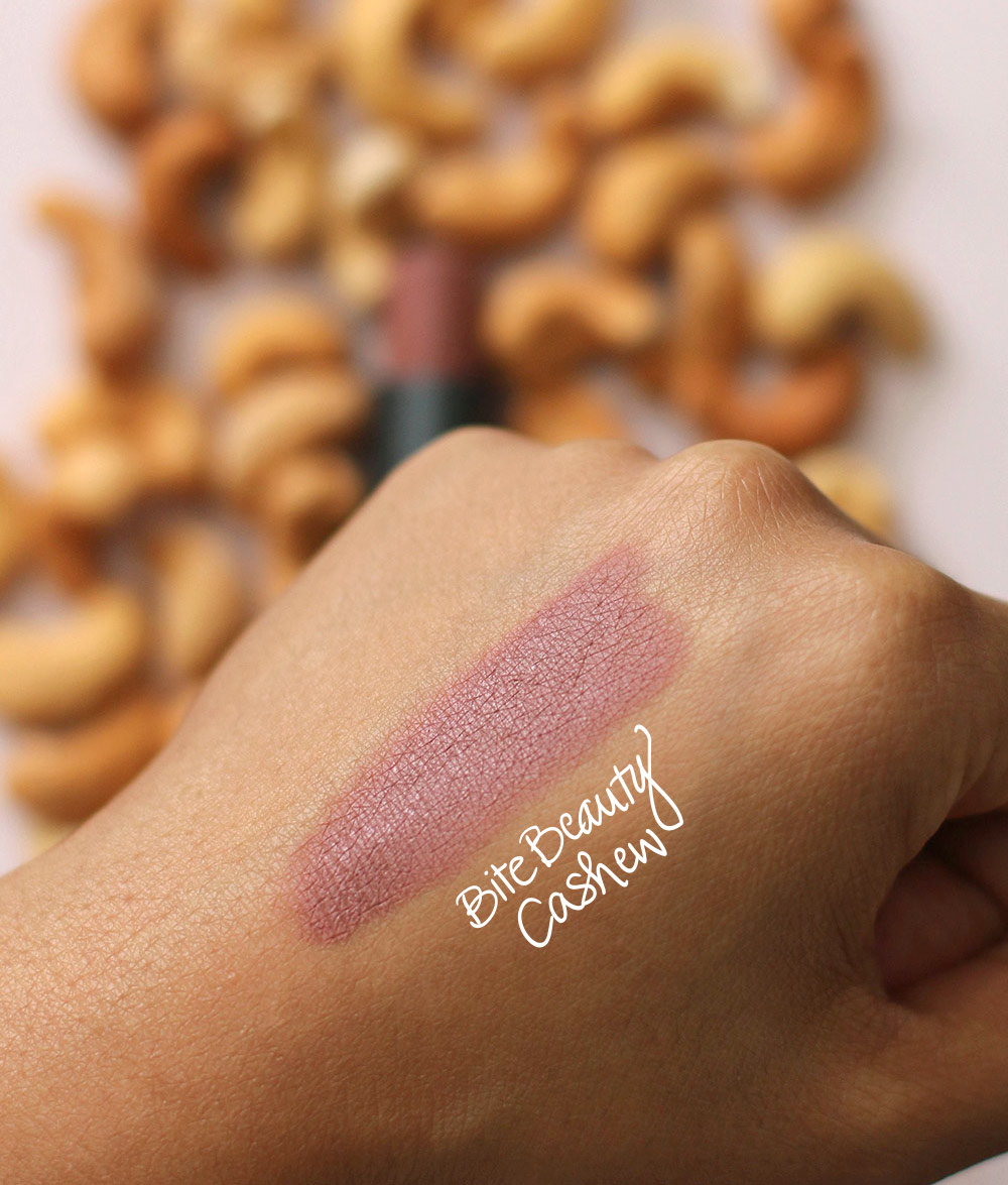 bite beauty cashew swatch