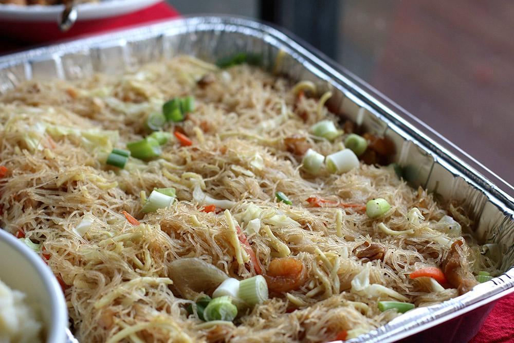 Pancit, a Filipino noodle dish