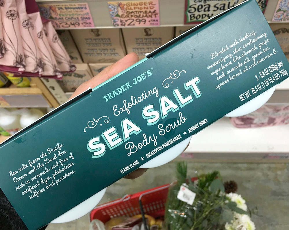trader joes exfoliating sea salt body scrub trio