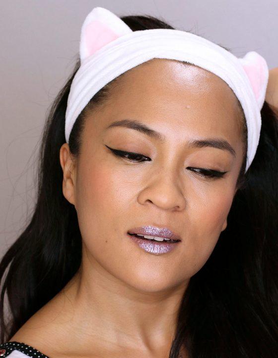 January #mbbinstachallenge Look 2 (Week of Jan. 16-22): Kitten Flicks and Glitter Lips