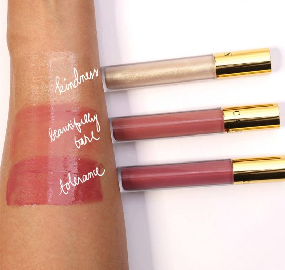 mac caitlyn jenner swatches gloss