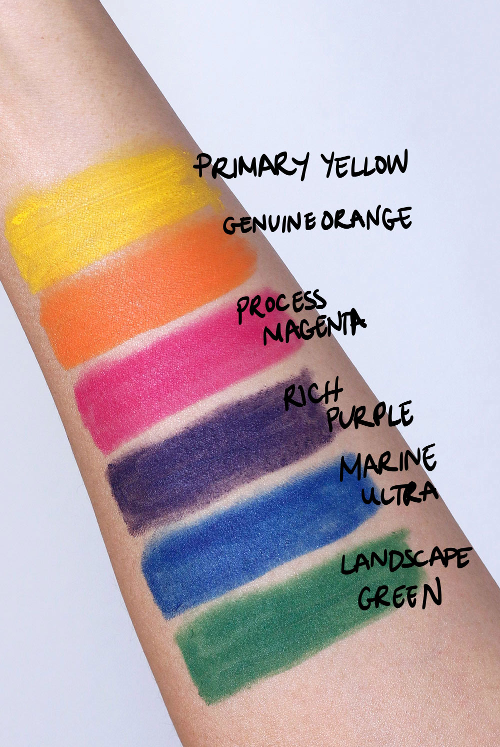mac work it out chromagraphic pencil swatches