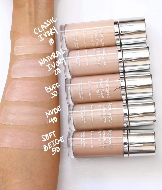 neutrogena hydro boost hydrating tint swatches 1