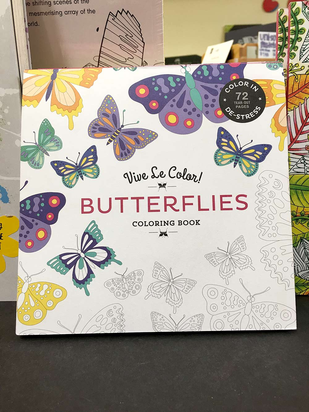 Labeled butterfly coloring pages - Vive Le Colour Butterflies Coloring Book