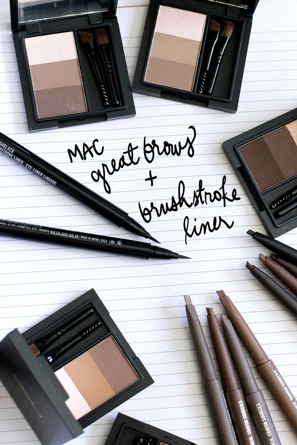 mac great brows and brushstroke liner