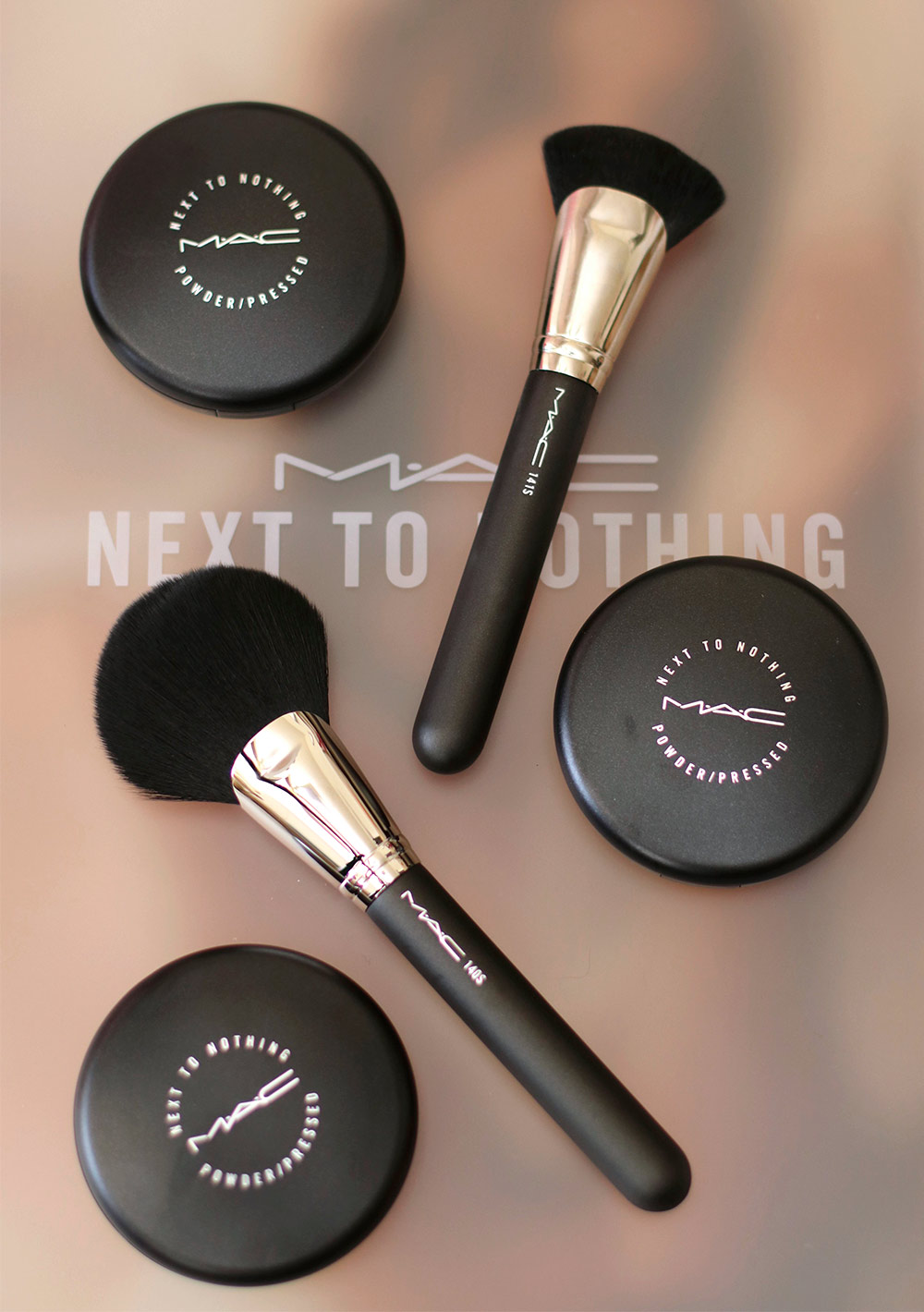 Mac next to nothing collection face colours pressed powders and fan mac next to nothing fan brush nvjuhfo Gallery