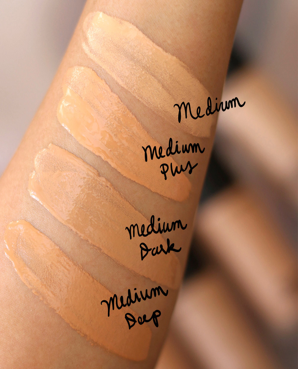mac next to nothing swatches medium final