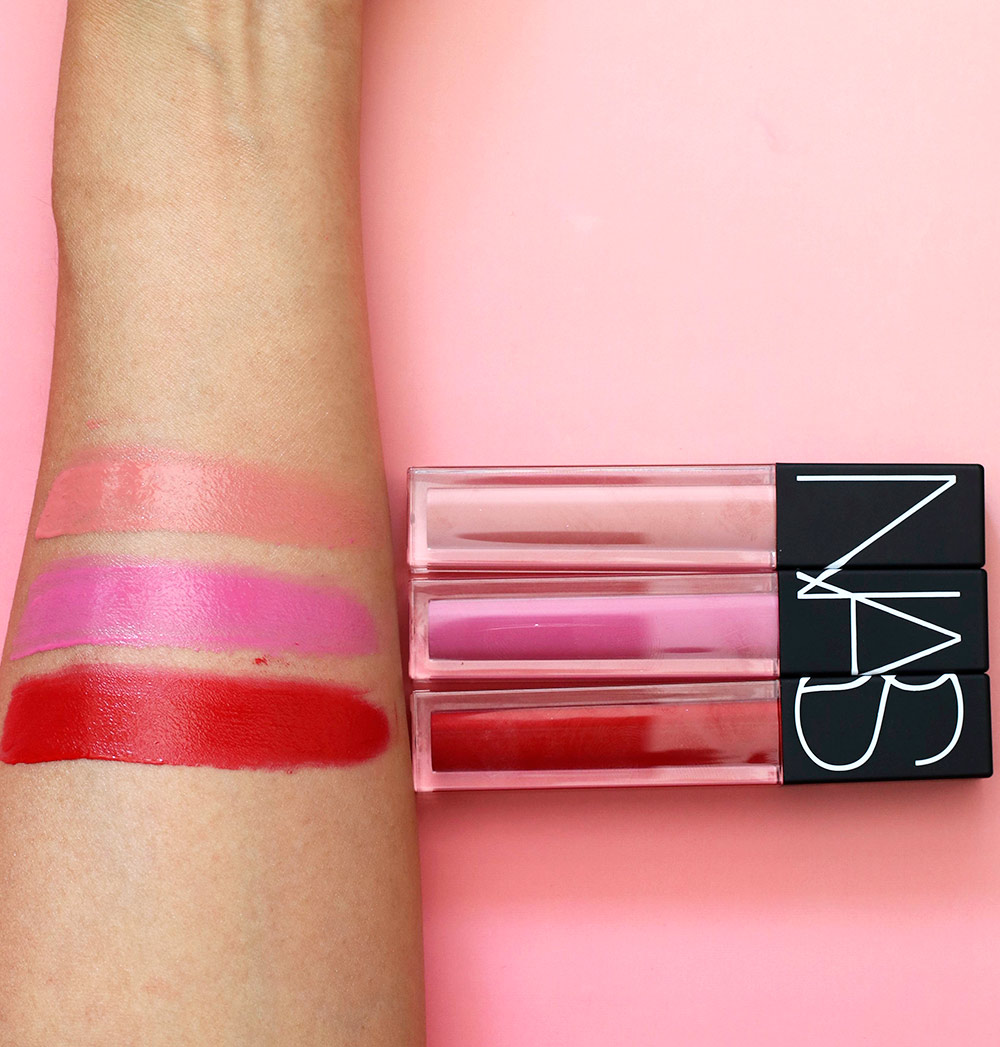 nars pop goes the easel velvet lip gloss swatches