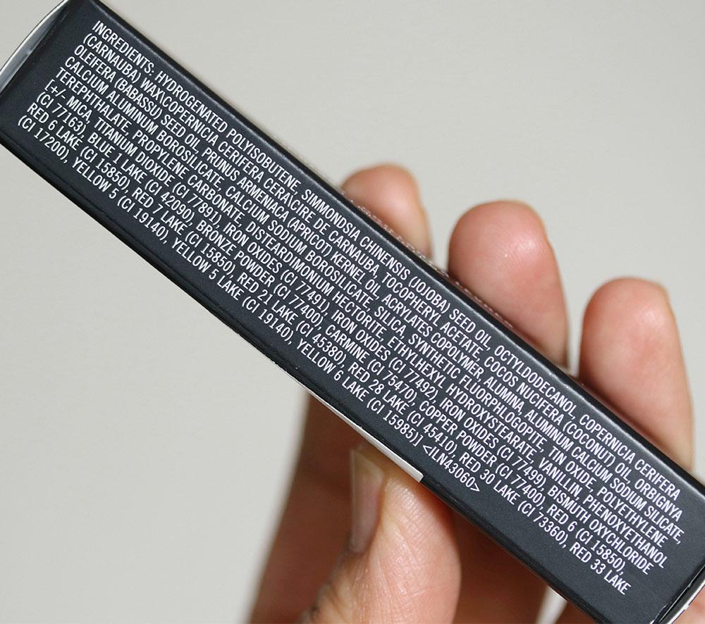 mac lipglass ingredients