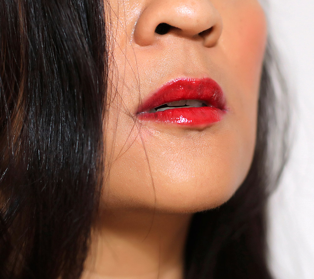mac min liu fortune red lipglass