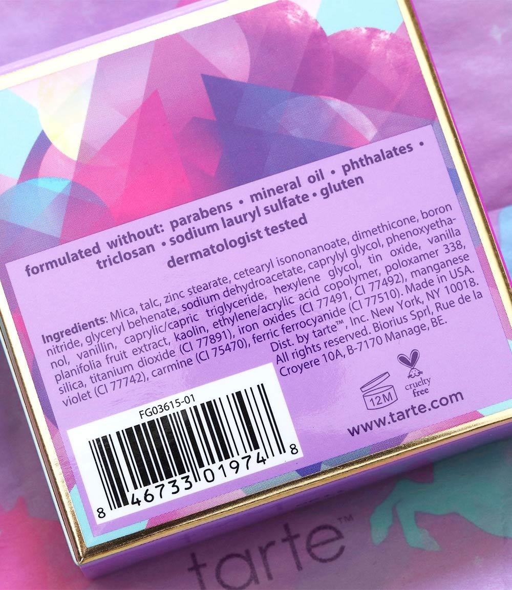 tarte spellbound glow rainbow highlighter ingredients