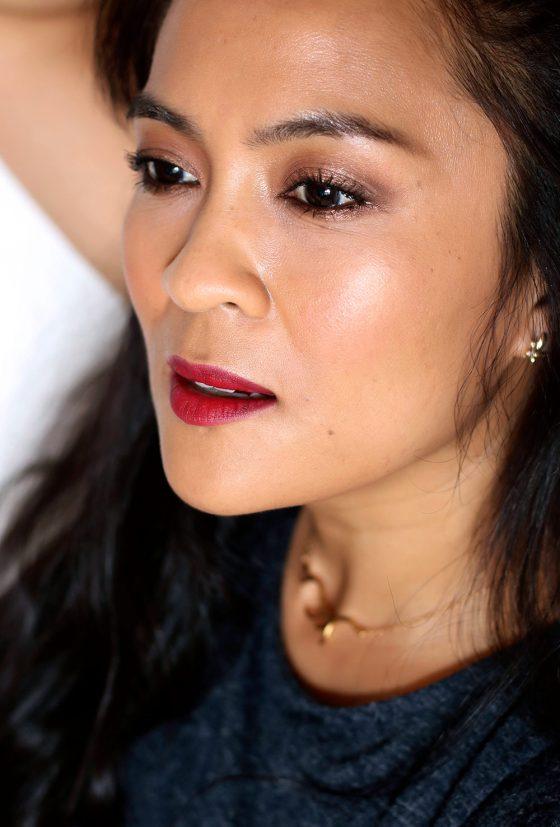 What I Wore Wednesday, Vol. 8: Metallic Bronze Lids and Matte Beet Red Lips