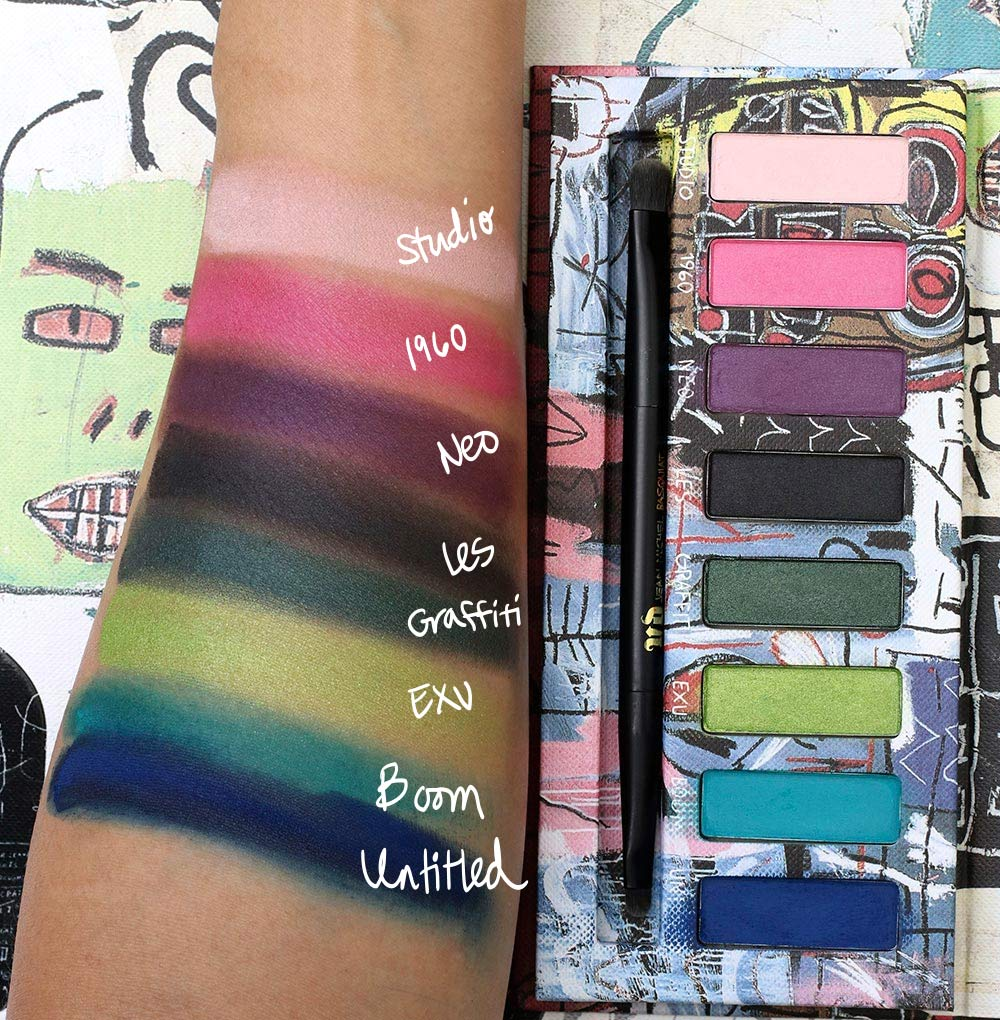urban decay basquiat swatches tenant palette
