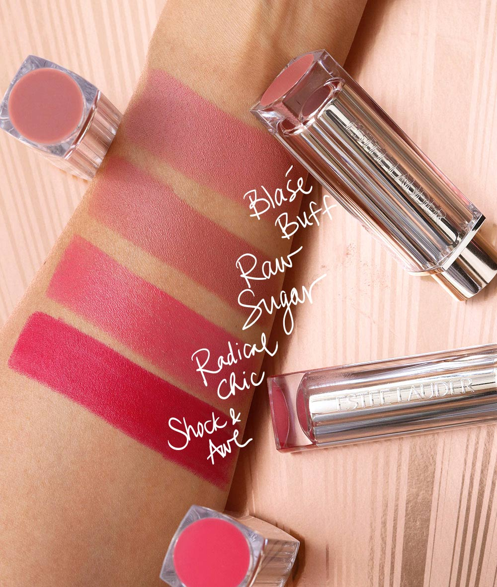 estee lauder pure color love lipstick swatches