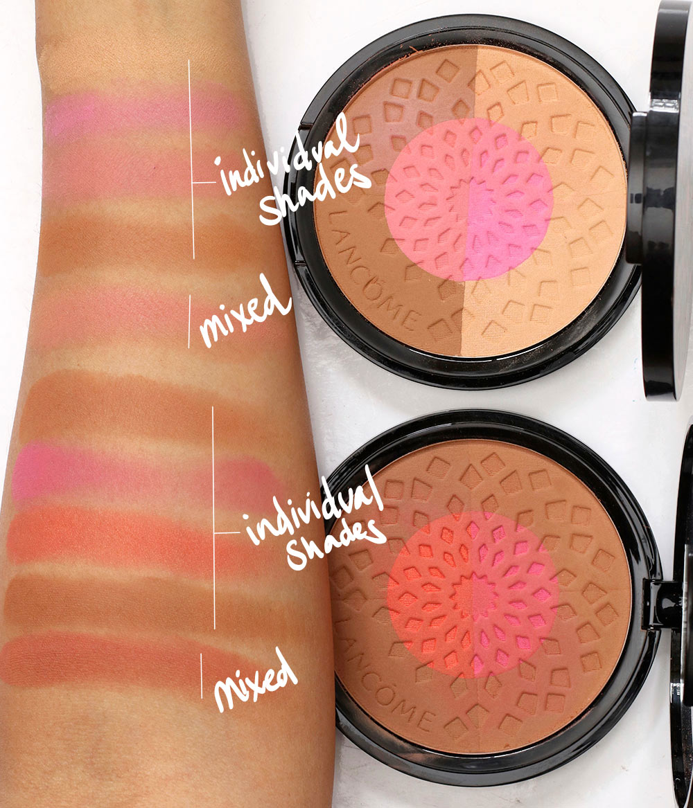 lancome summer siwng swatches bronzer