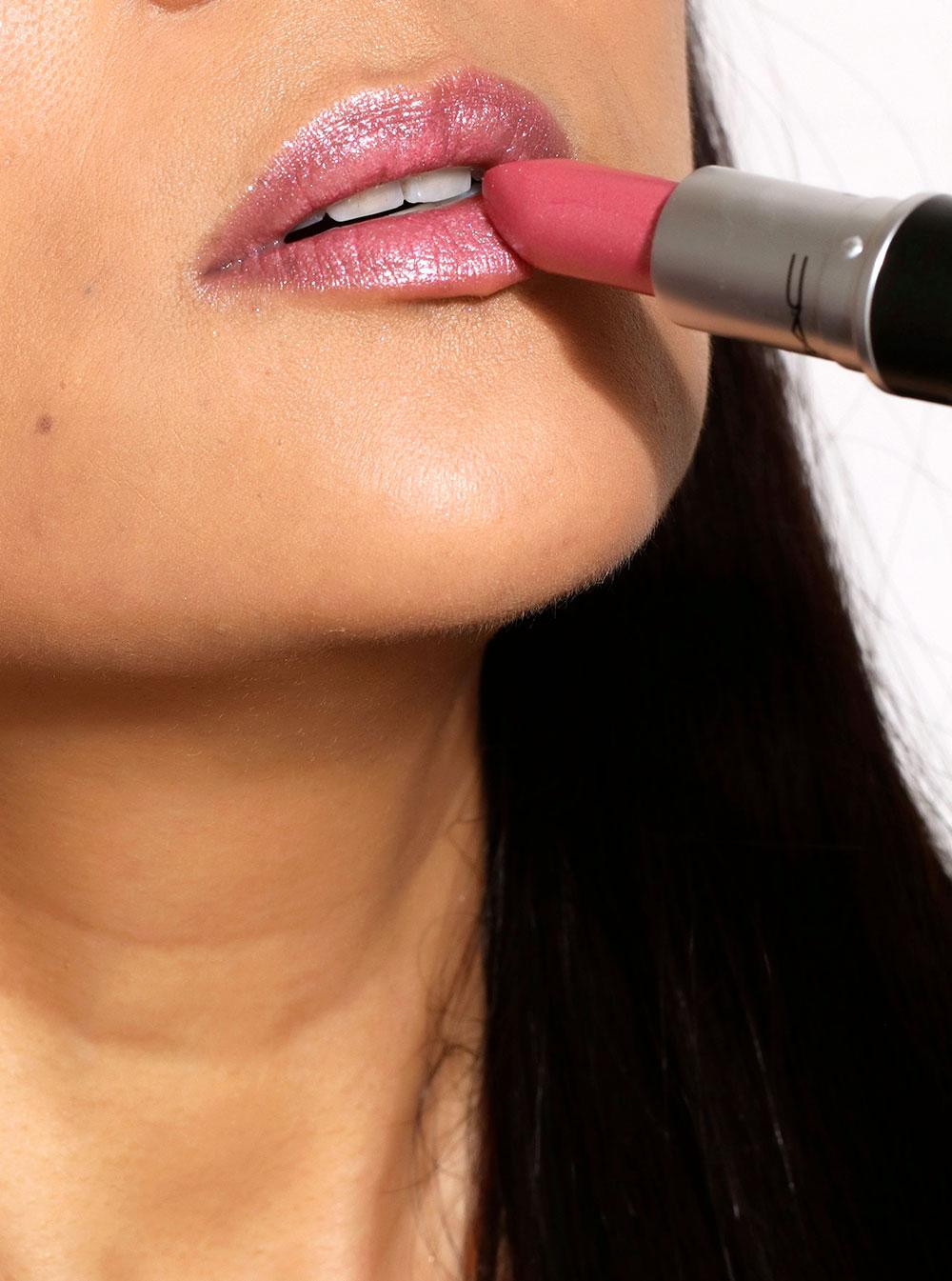mac rose dipped lipstick