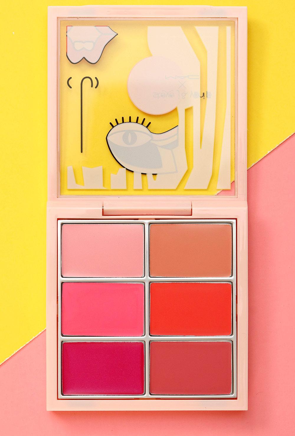 mac steve j yoni p boxes lip cheek palette