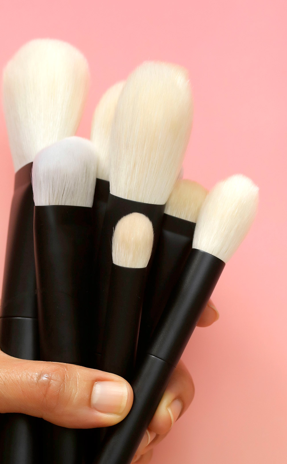 nars pro brush collection in hand