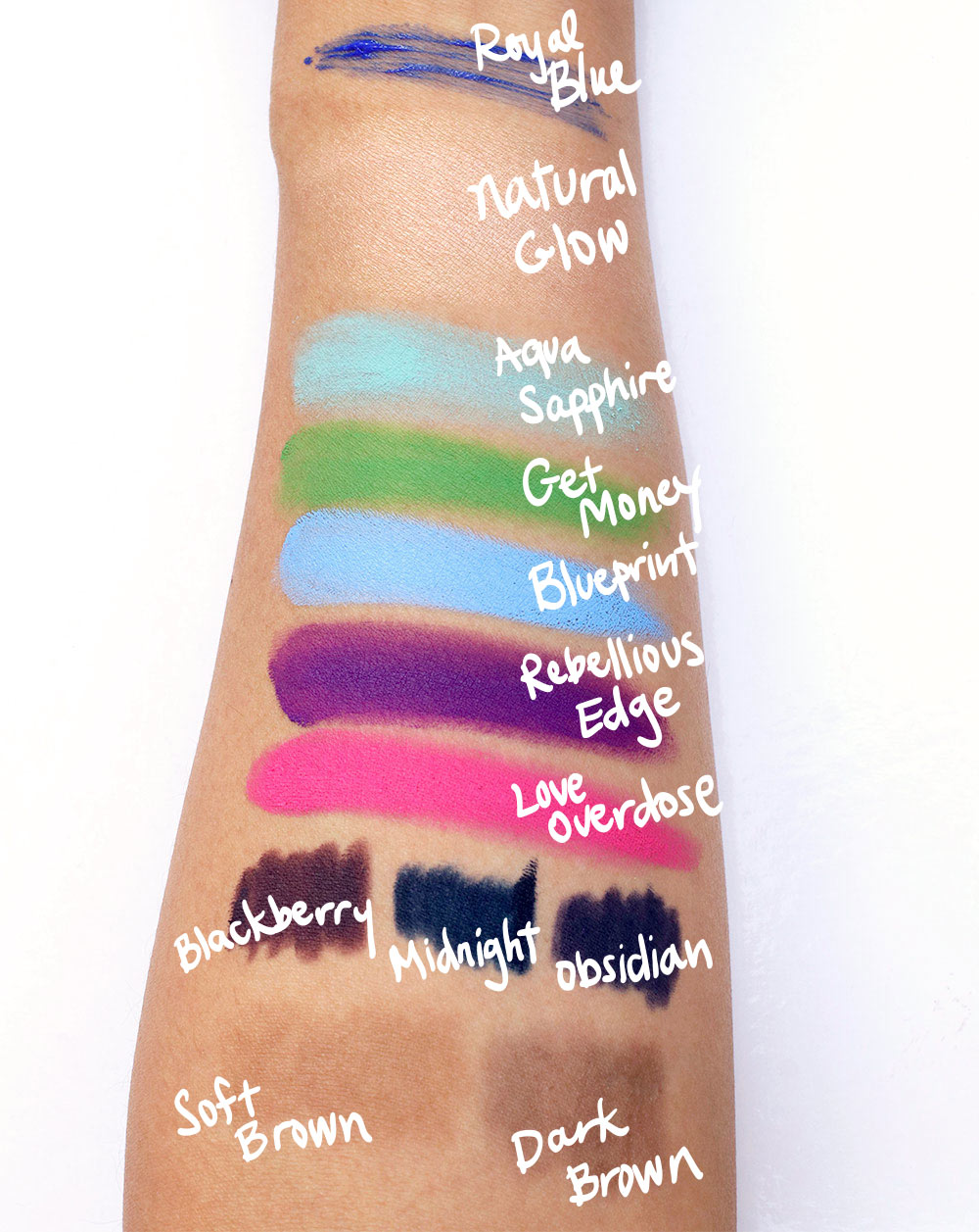 nyx maybelline maybelline revlon swatches final