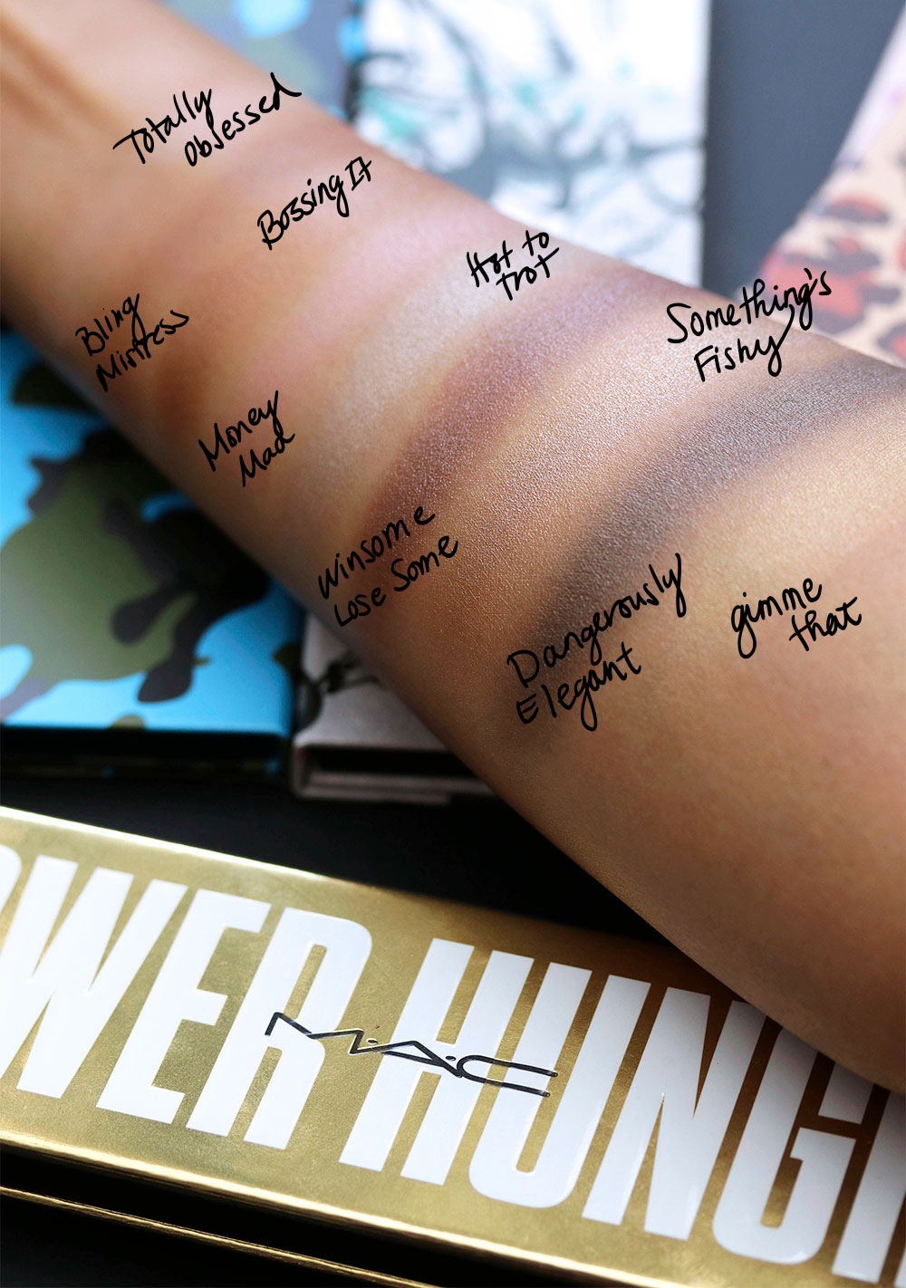 mac power hungry swatches
