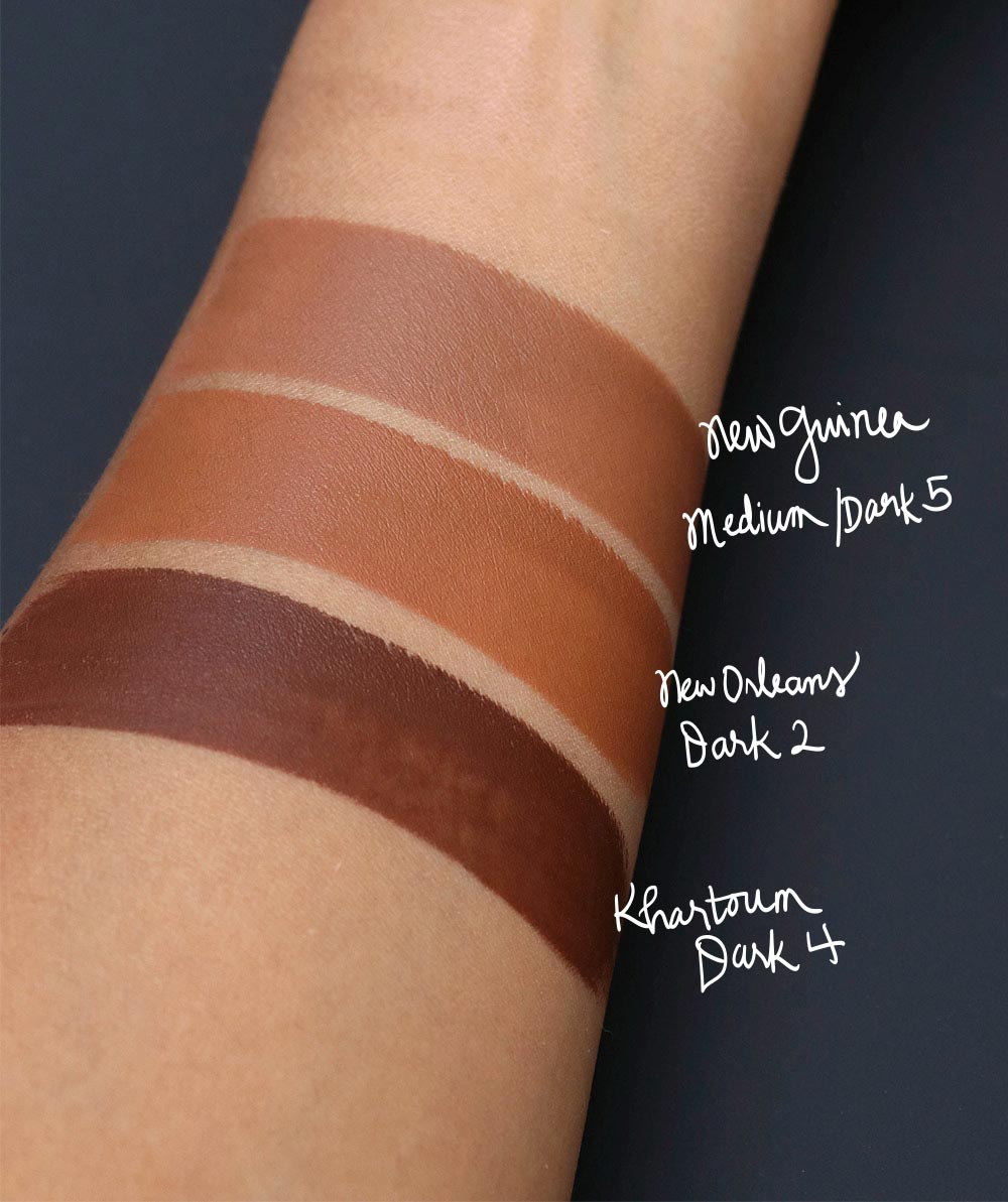nars velvet matte stick foundation swatches