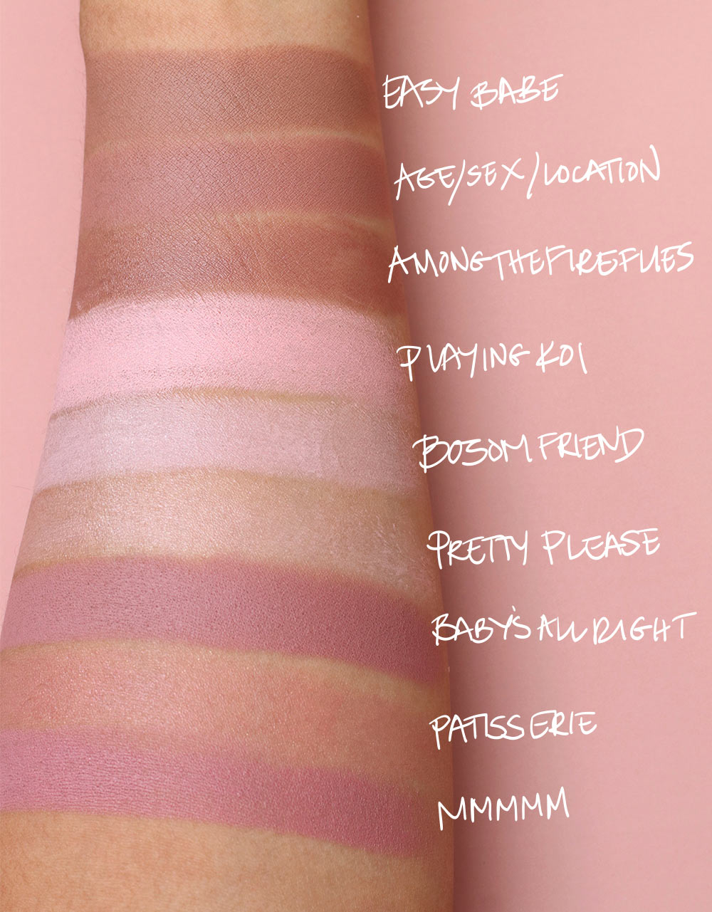 mac niki minaj swatches