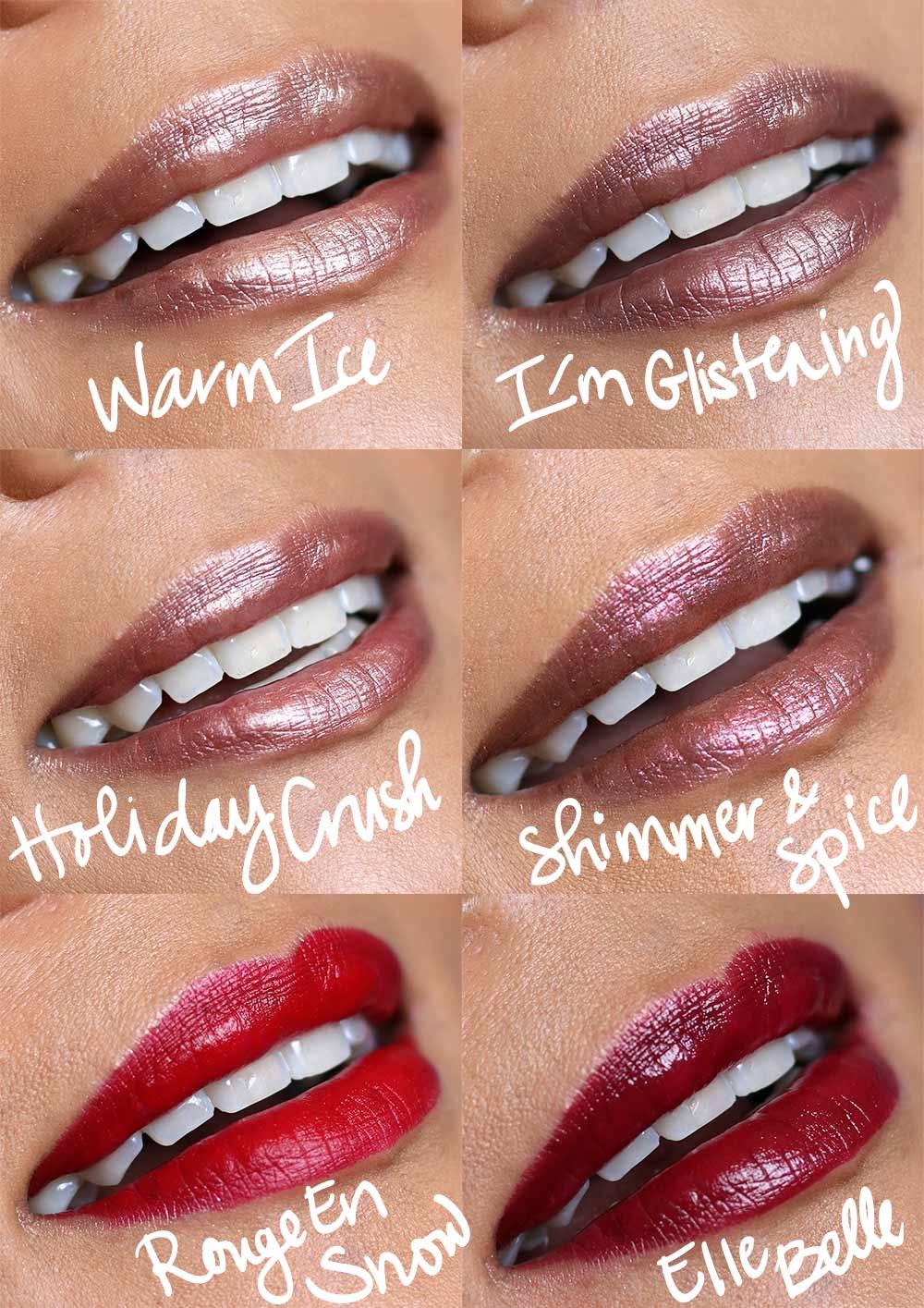 mac snow ball lip swatches