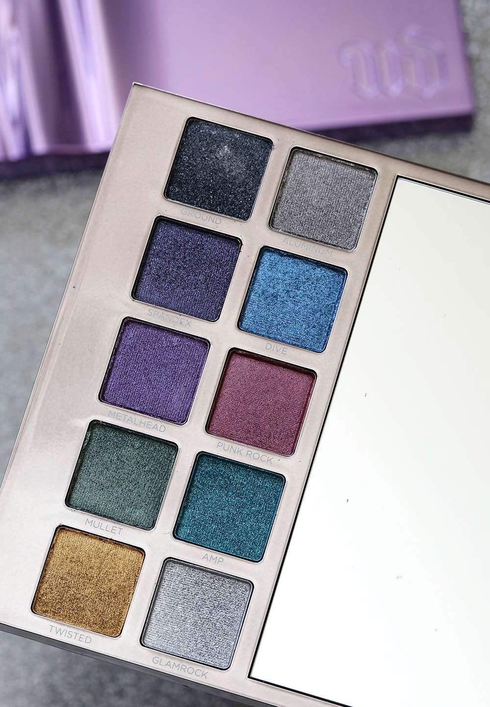 urban decay heavy metals metallic eyeshadow palette left