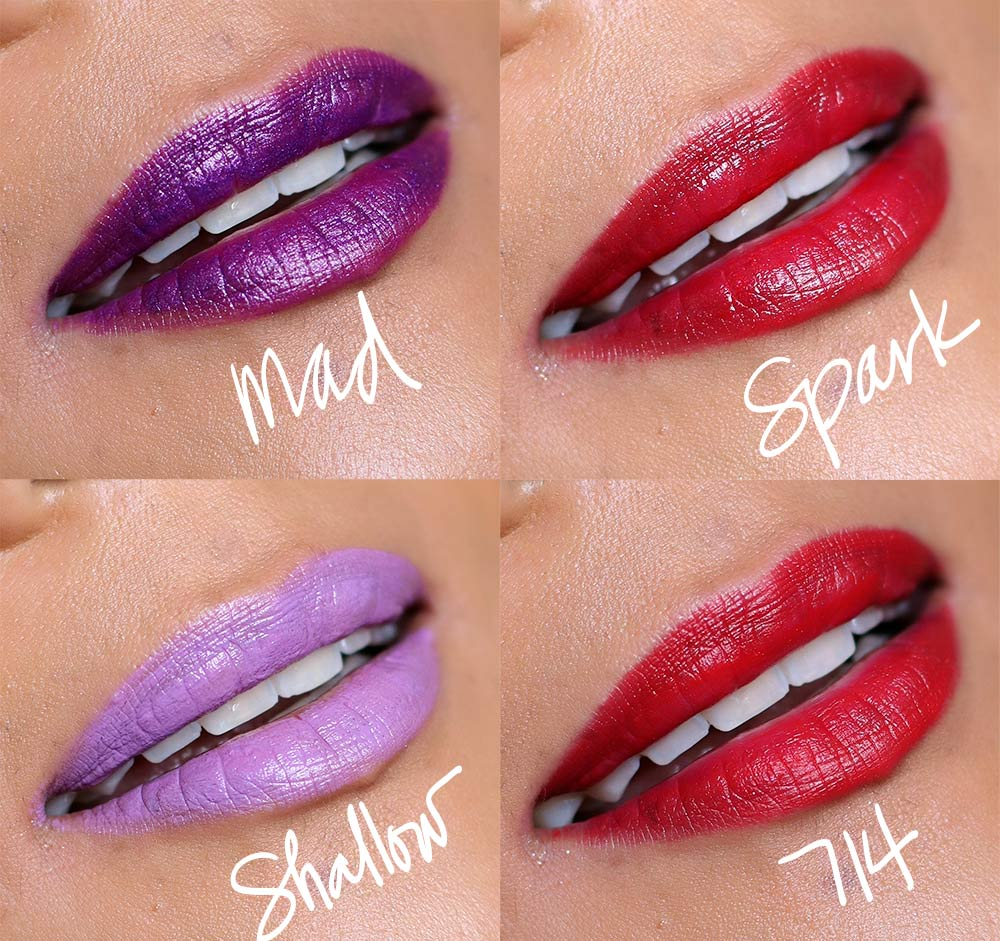 urban decay meets metal lipstick palette swatches