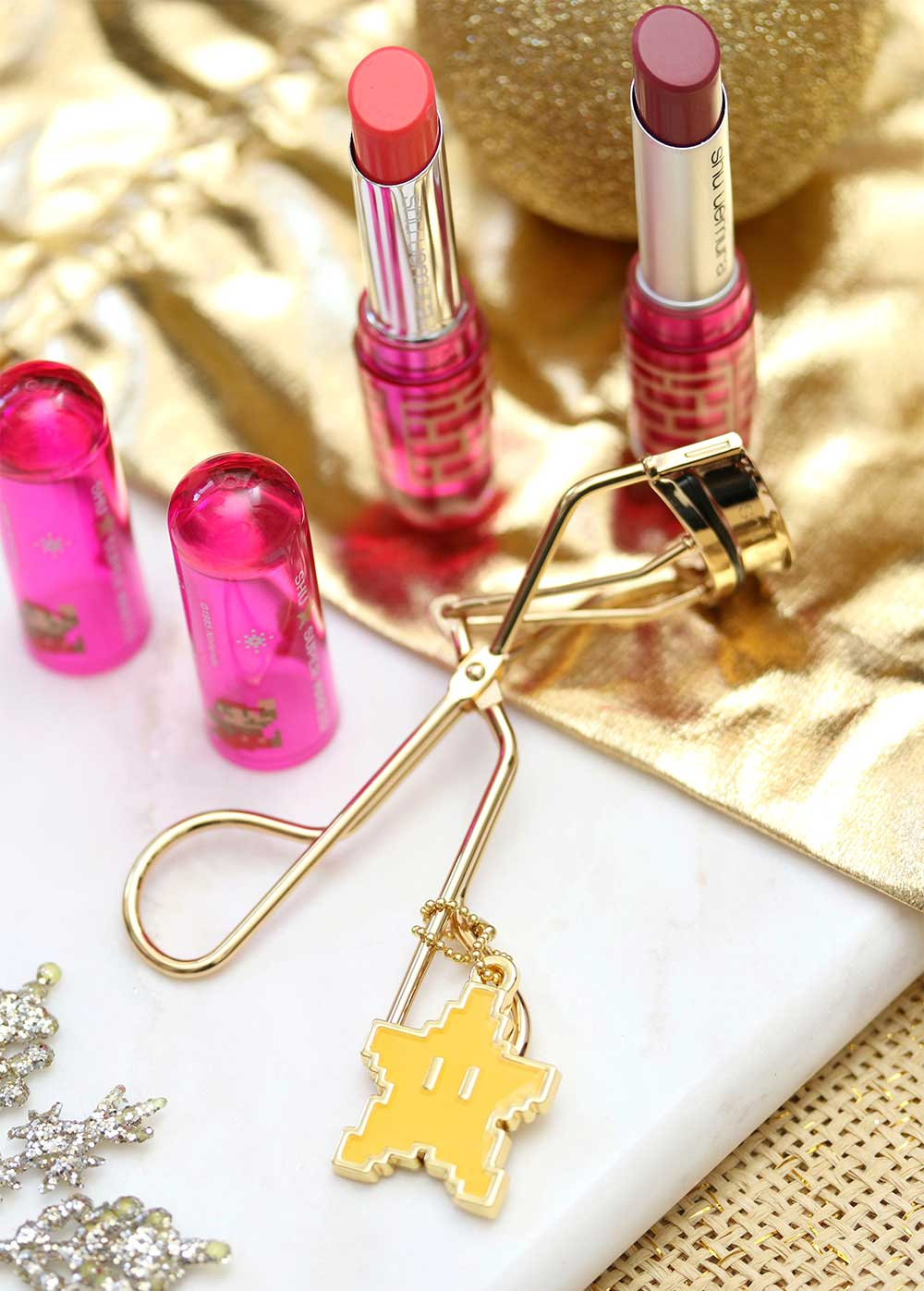 super mario makeup collection shu uemura lash curler