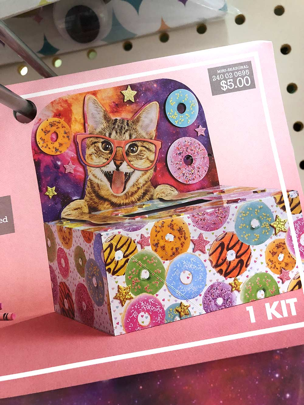 cat glasses mailbox decorating kit