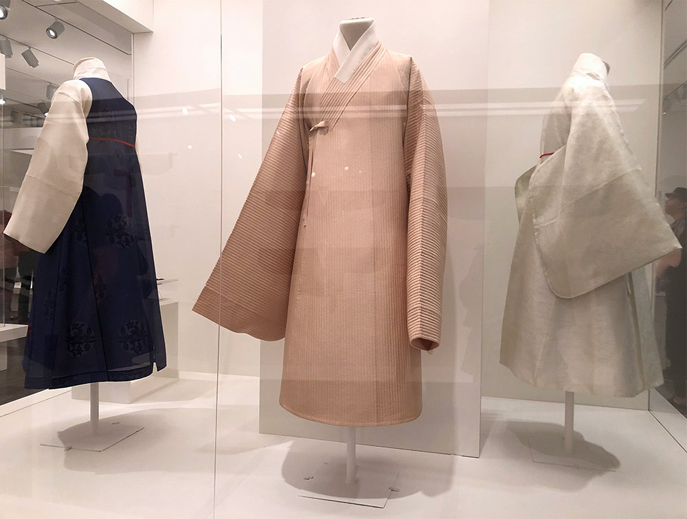 couture korea asian art museum mens hanbok blush