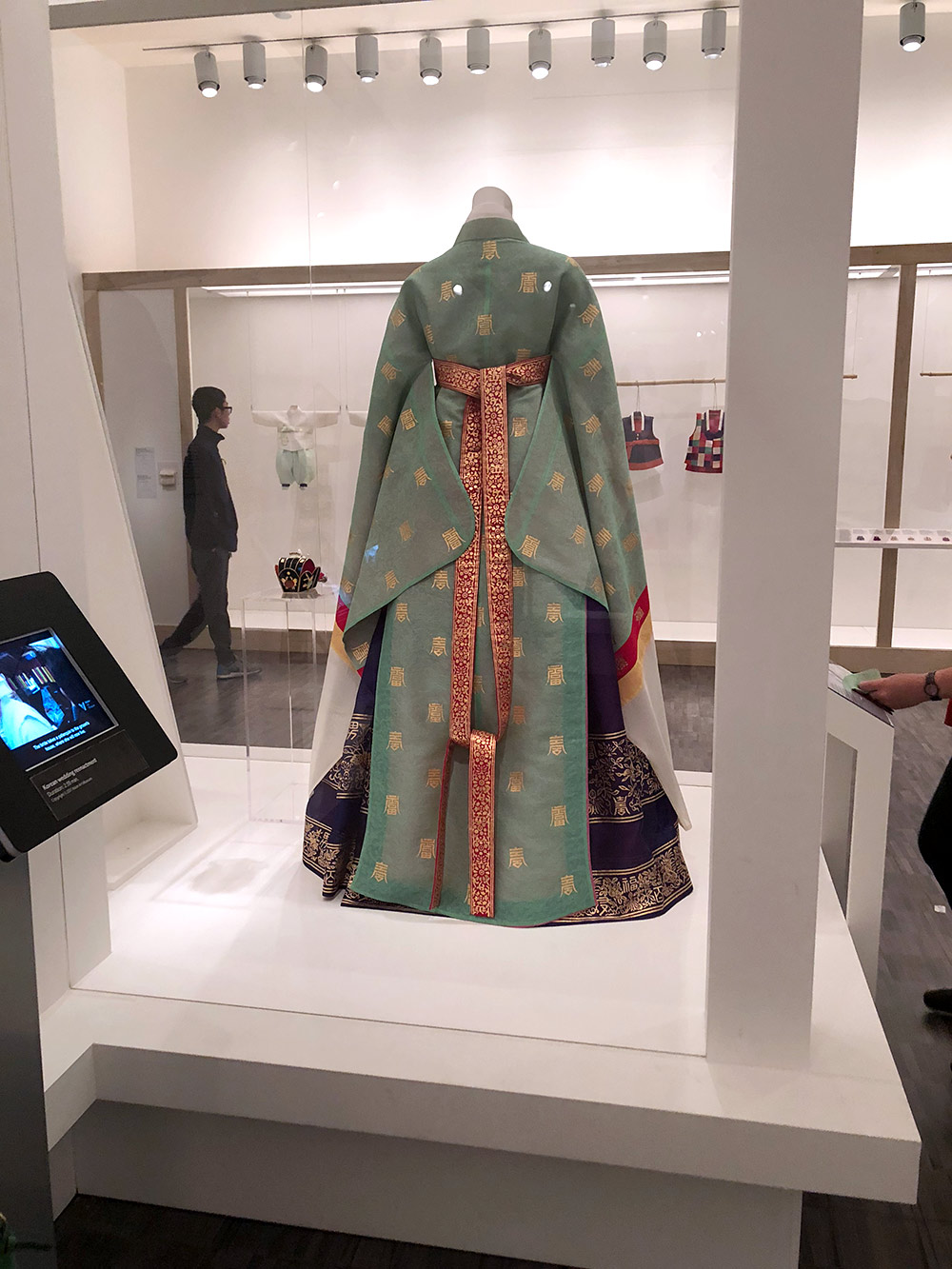 couture korea asian art museum womens hanbock back