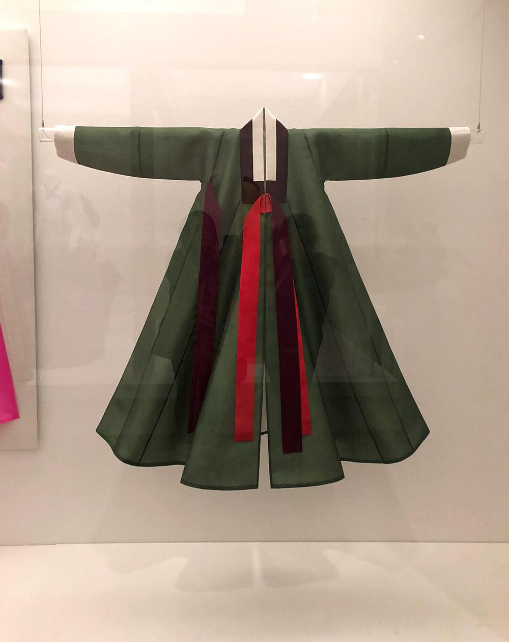 couture korea asian art museum womens hanbok green