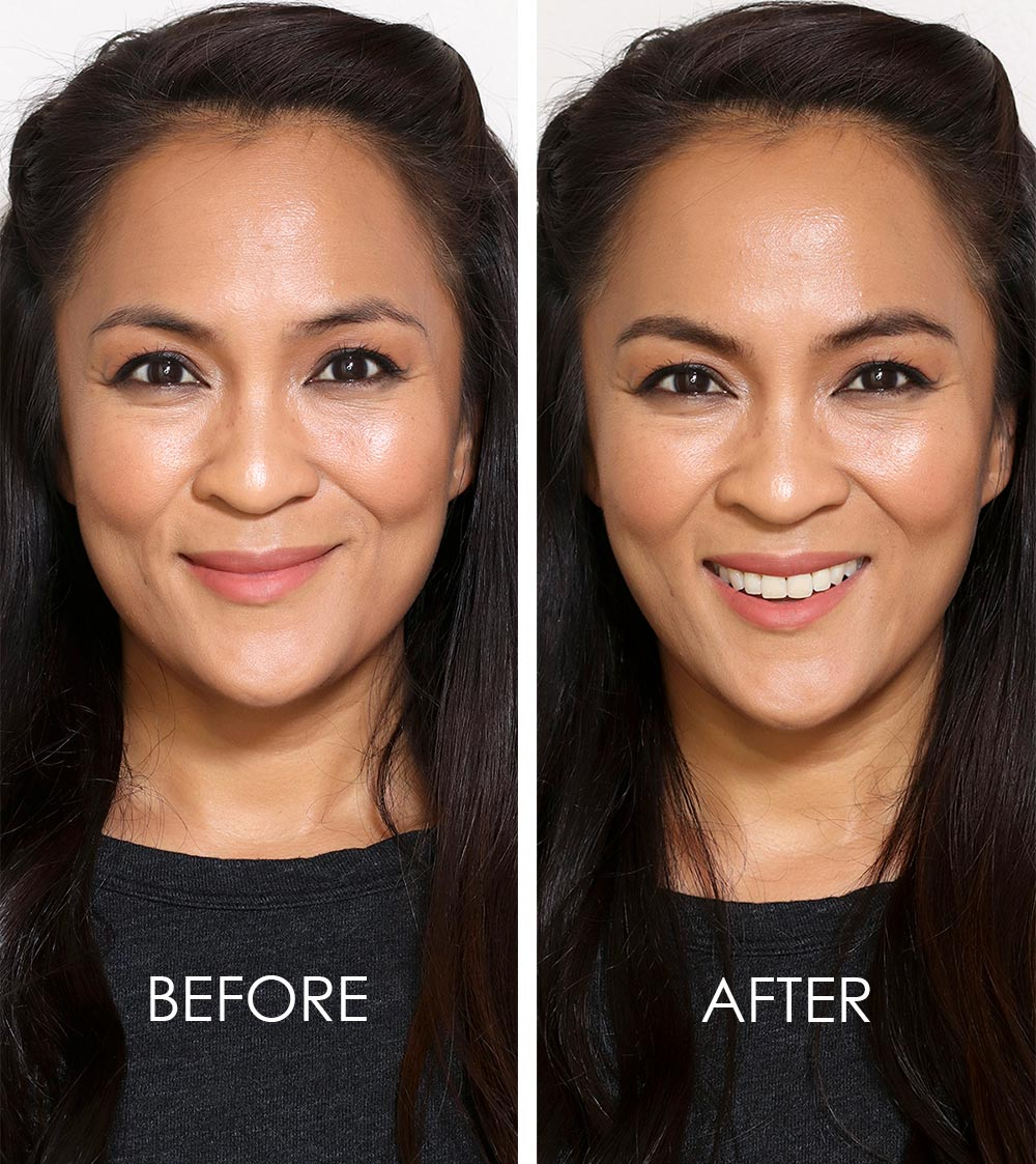 hourglass arch brow volumizing fiber gel before after