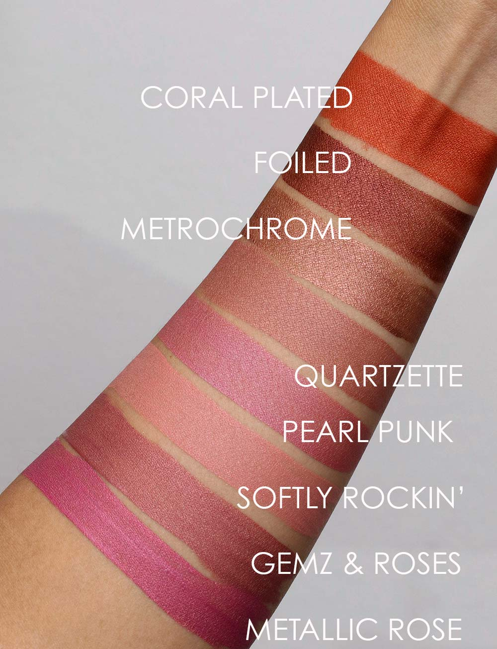 mac retromatte liquid lipcolour swatches 1