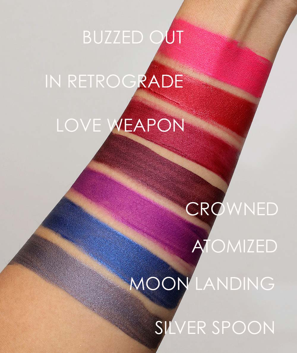 mac retromatte liquid lipcolour swatches 2