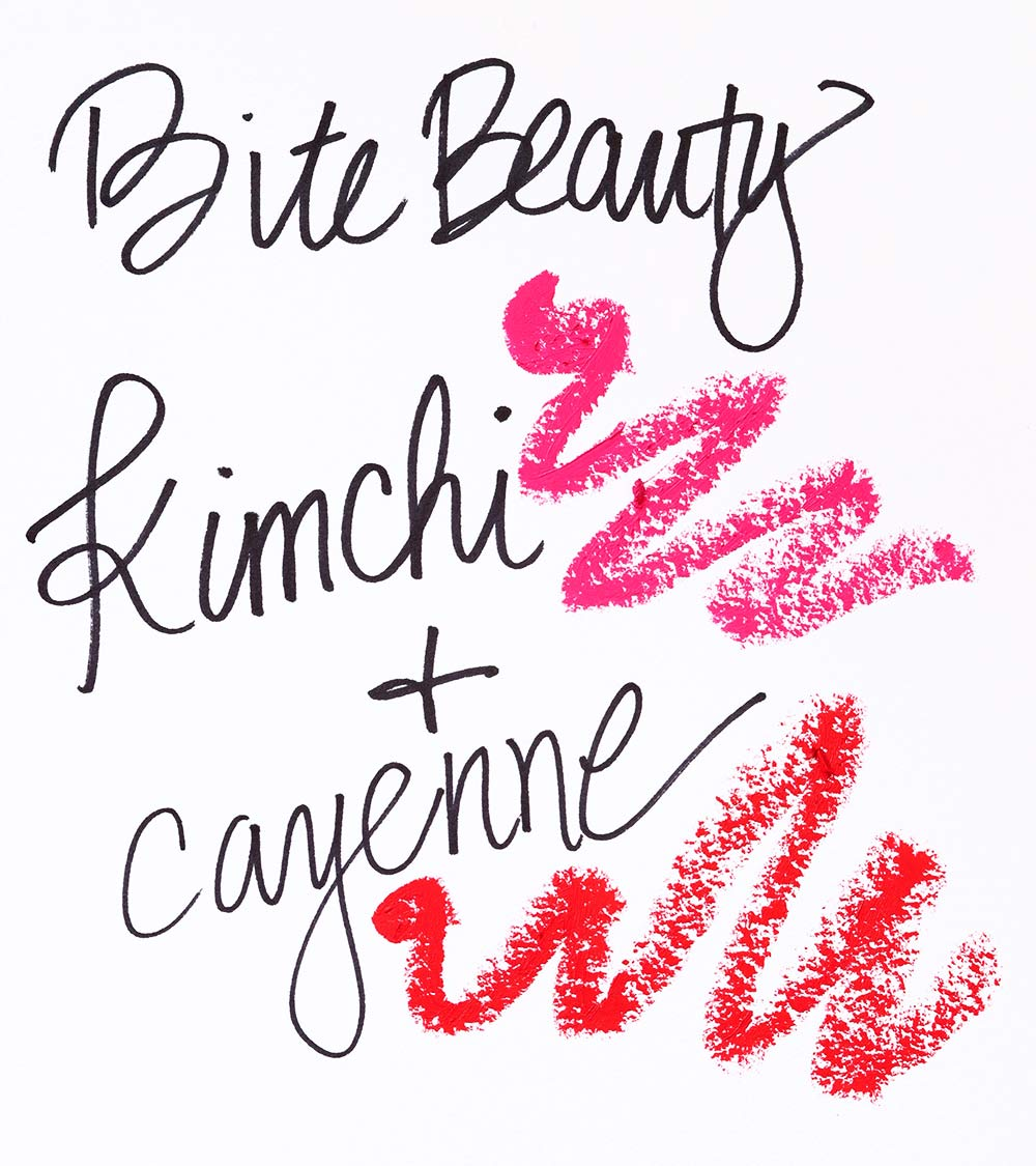 bite beauty cayenne kimchi swatch
