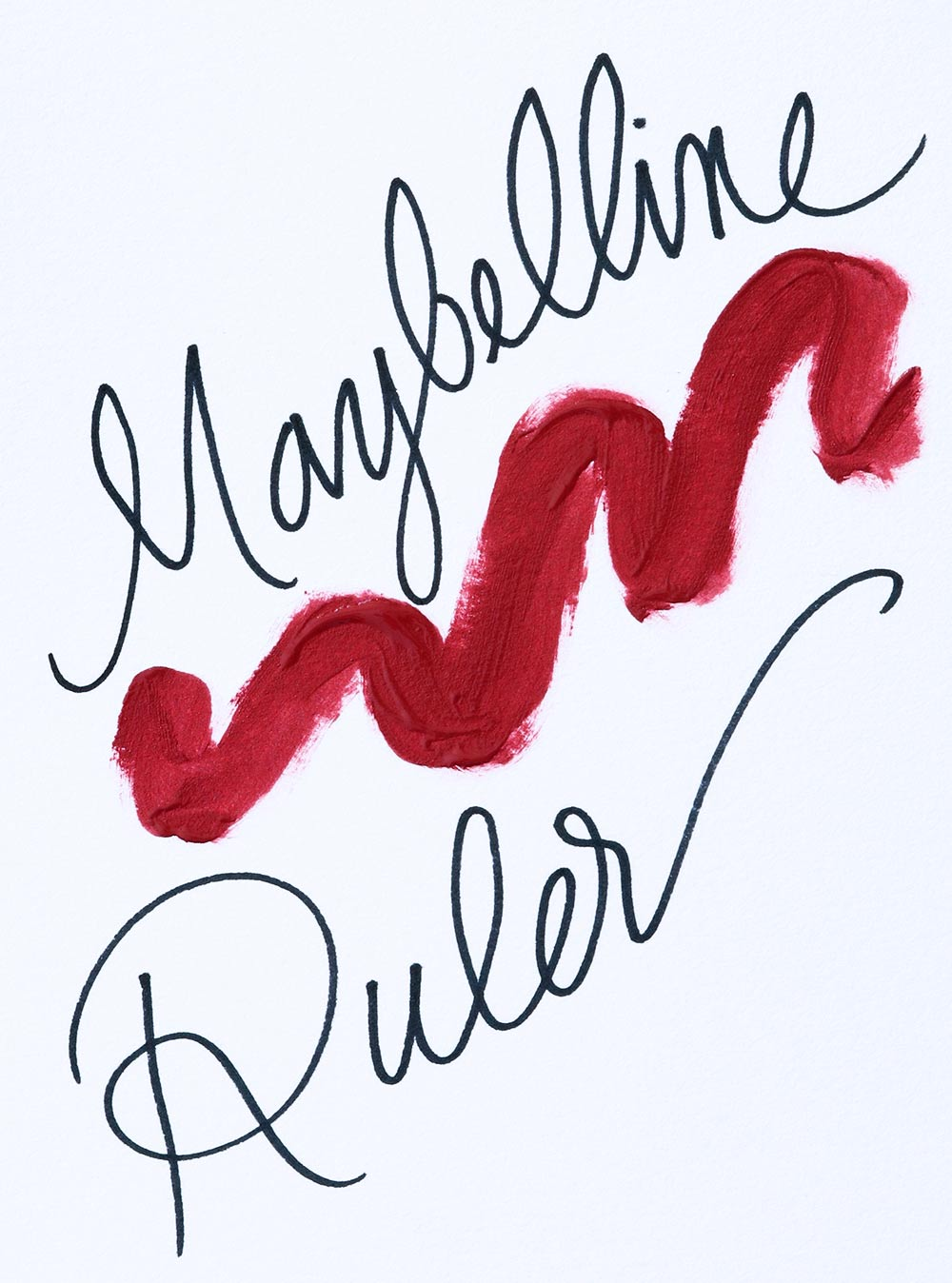 maybelline ruler swatch