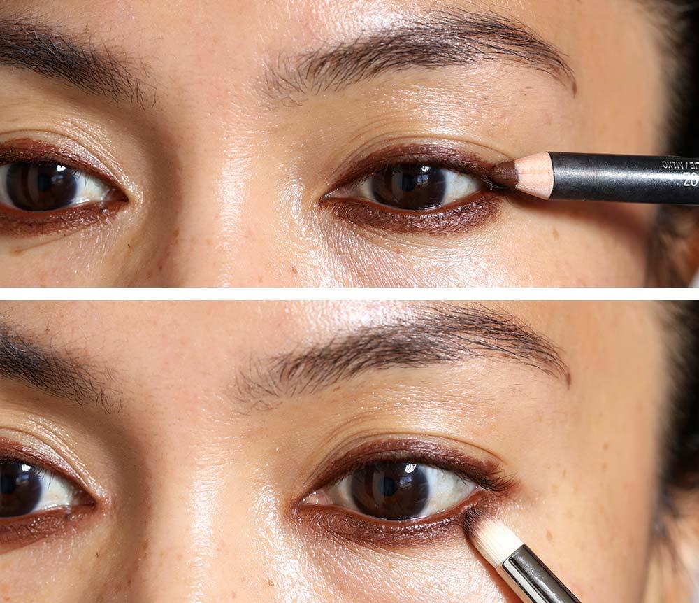 red brown smokey eyes tutorial 1