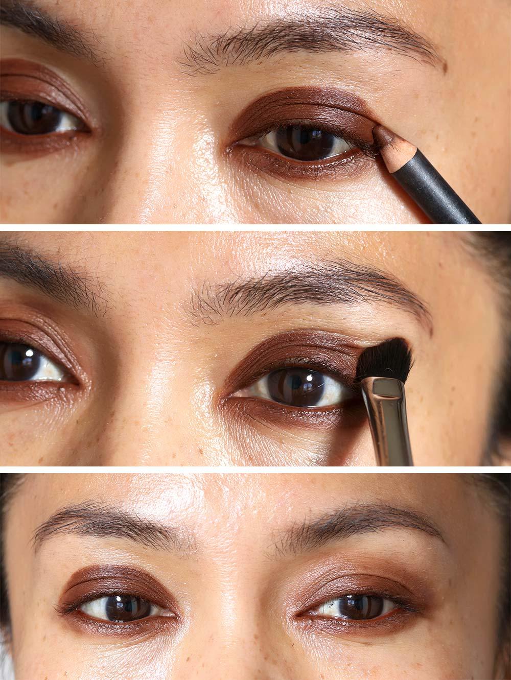 red brown smokey eyes tutorial 2