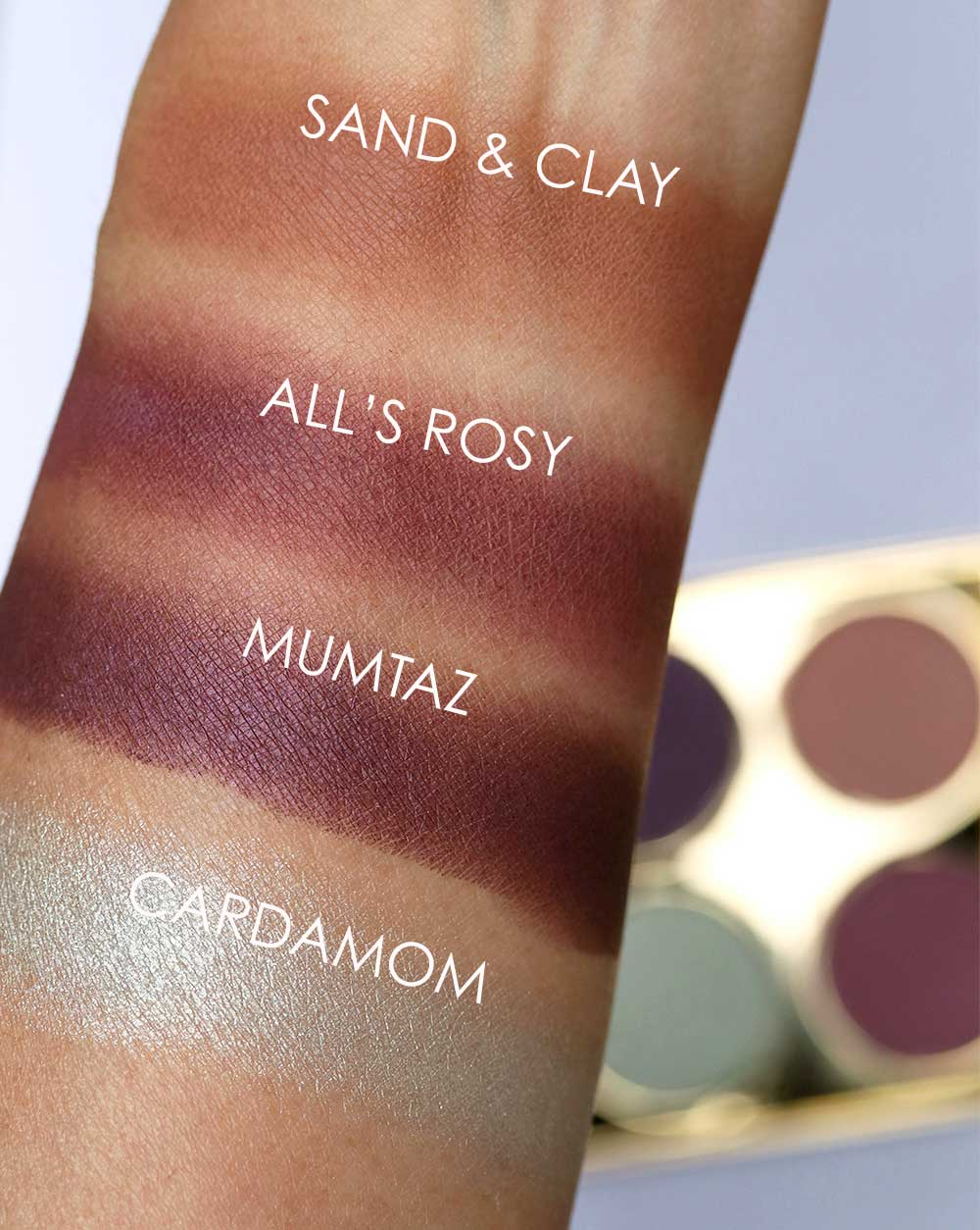 mac padma lakshmi 70s sunset swatches