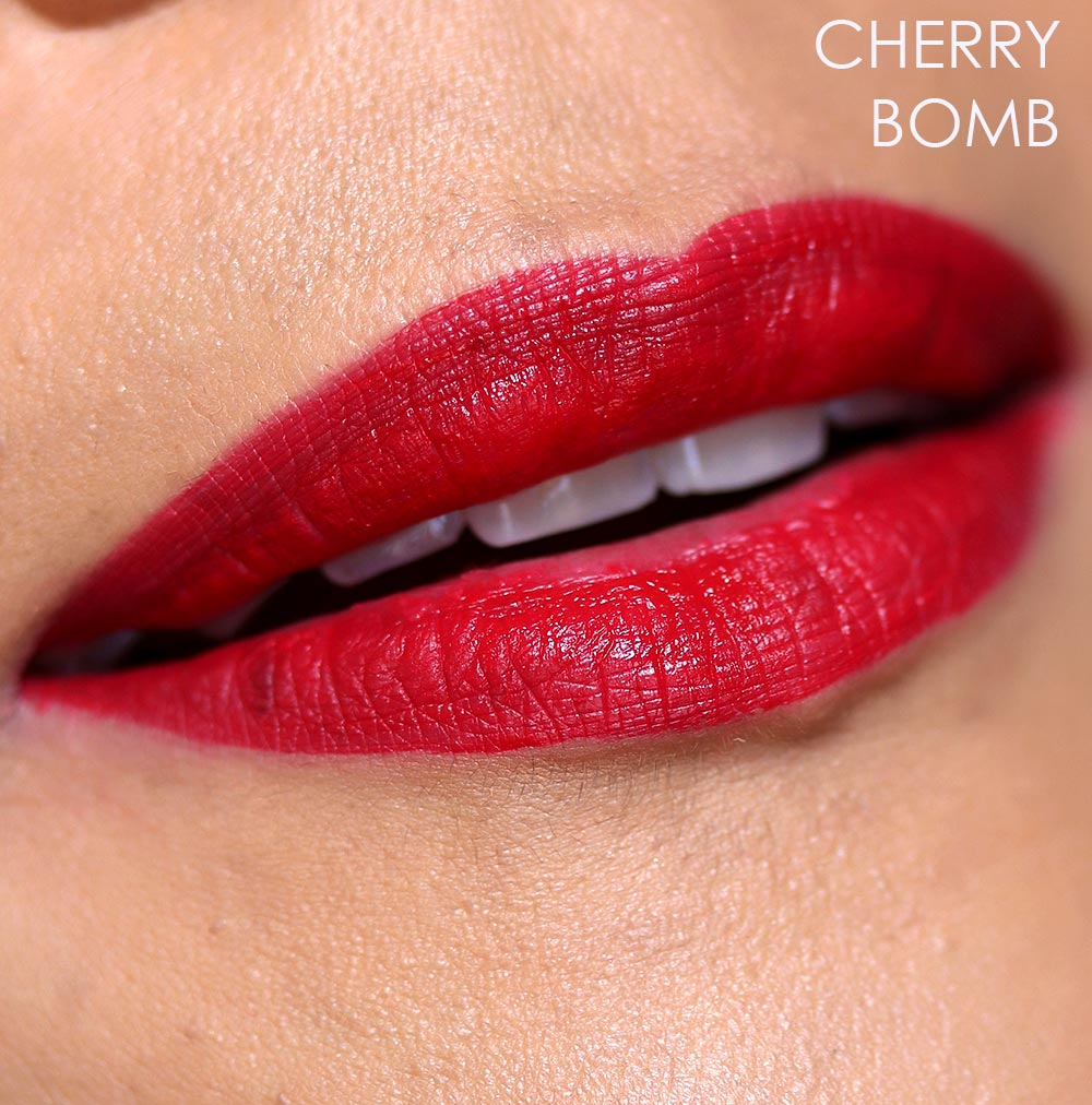 nars cherry bomb lip swatch