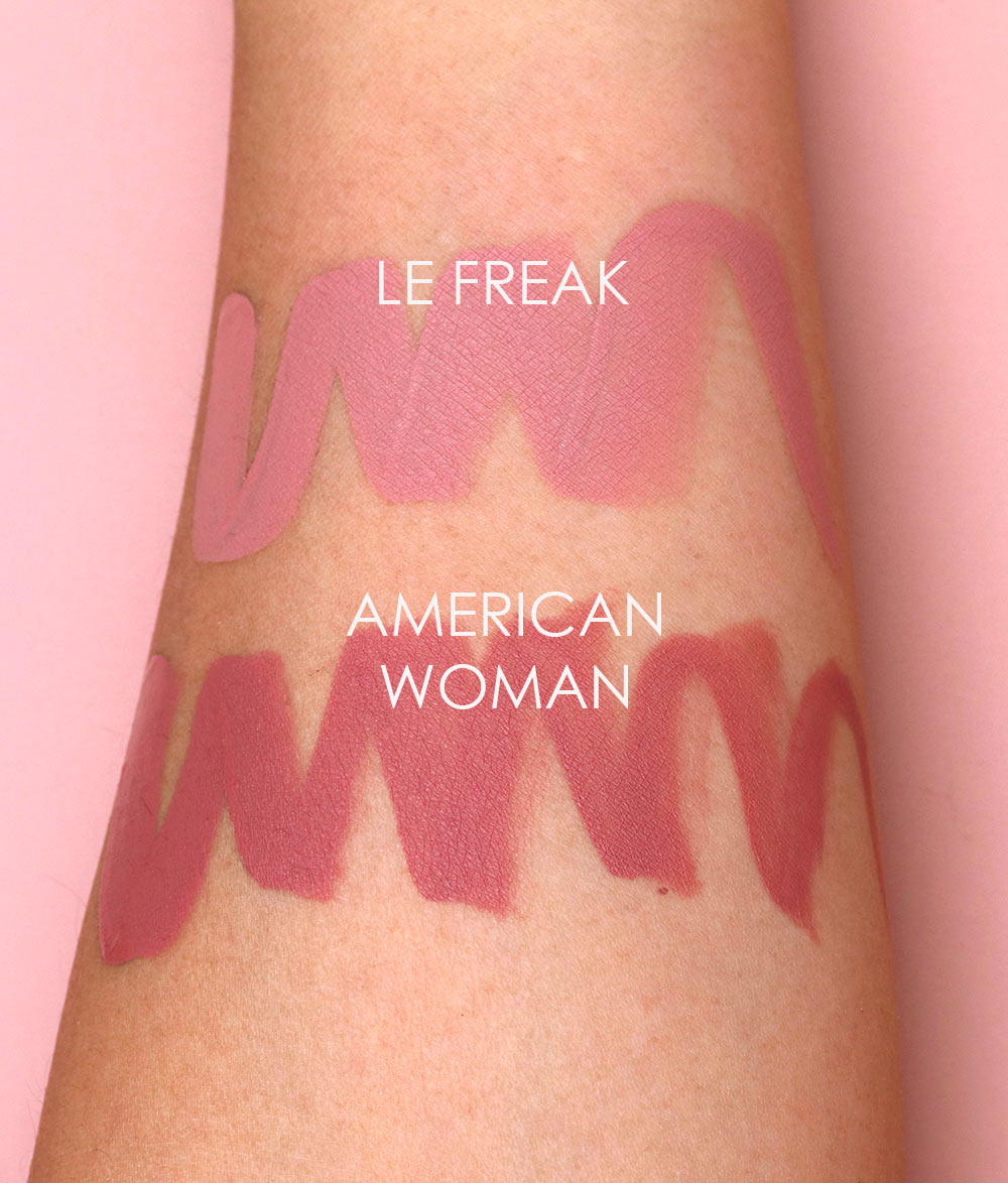 nars le freak american woman swatches