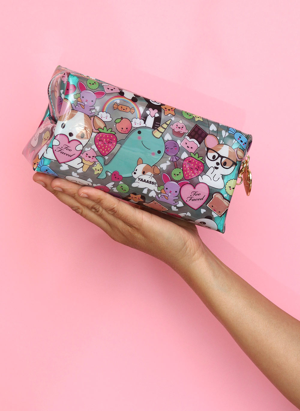 too faced clover makeup bag
