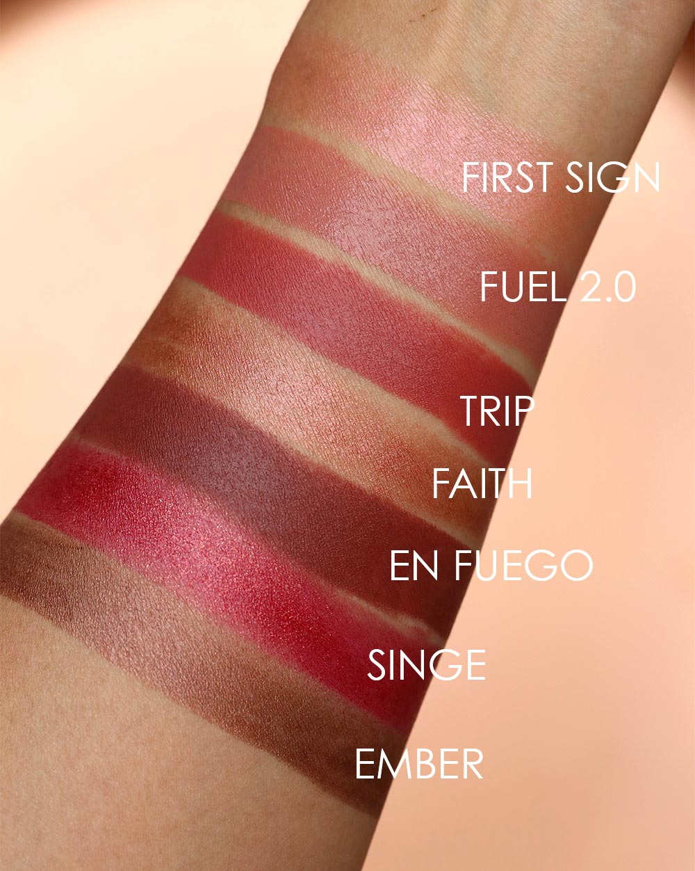 urban decay naked heat lipstick swatches