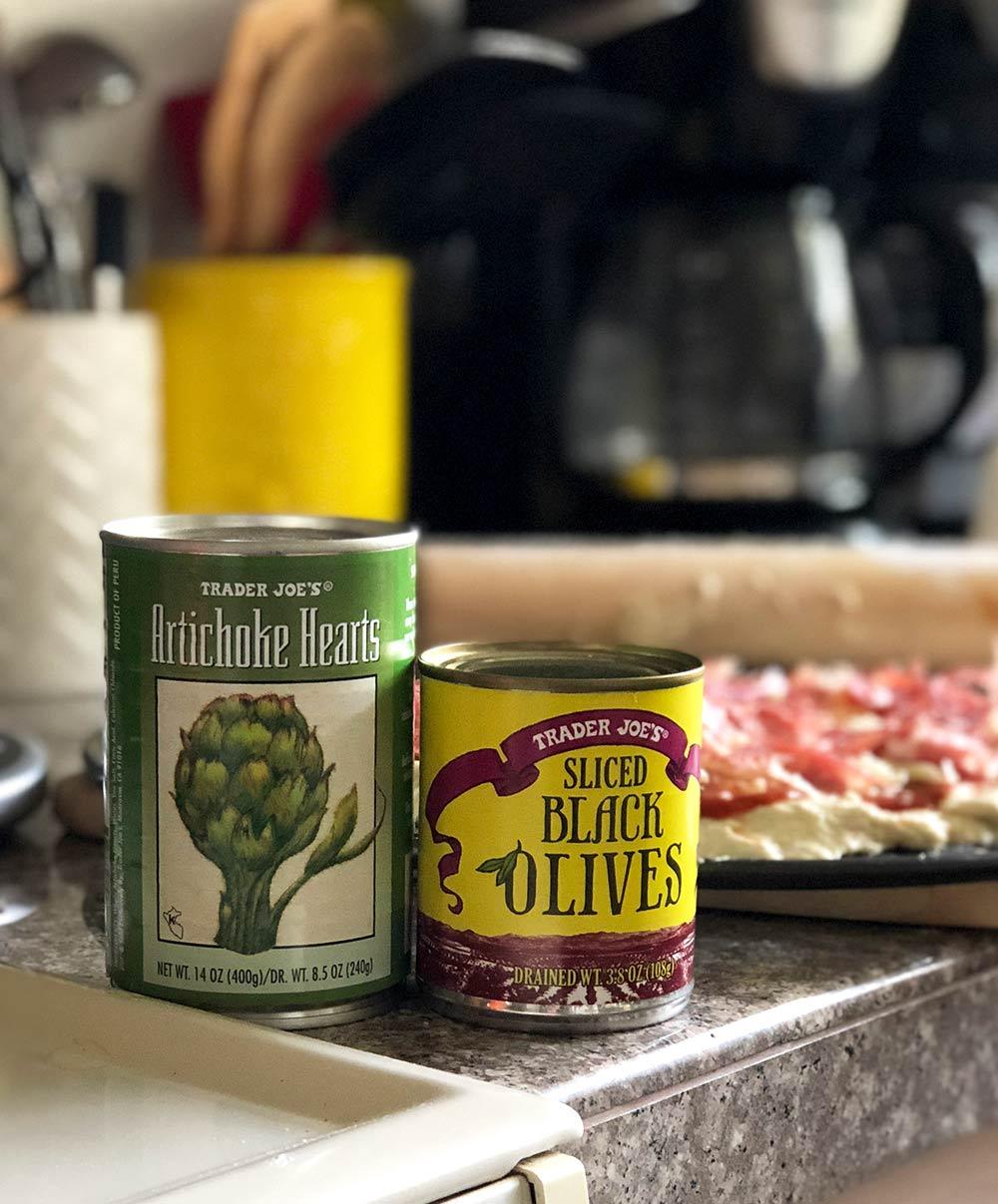 artichoke hearts black olives