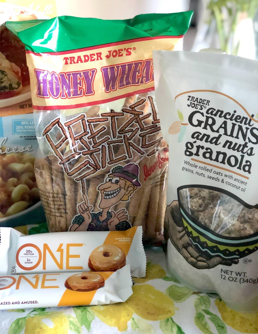 honey wheat pretzel sticks one bars granola