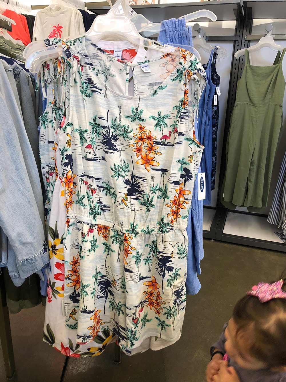 old navy tropical print romper