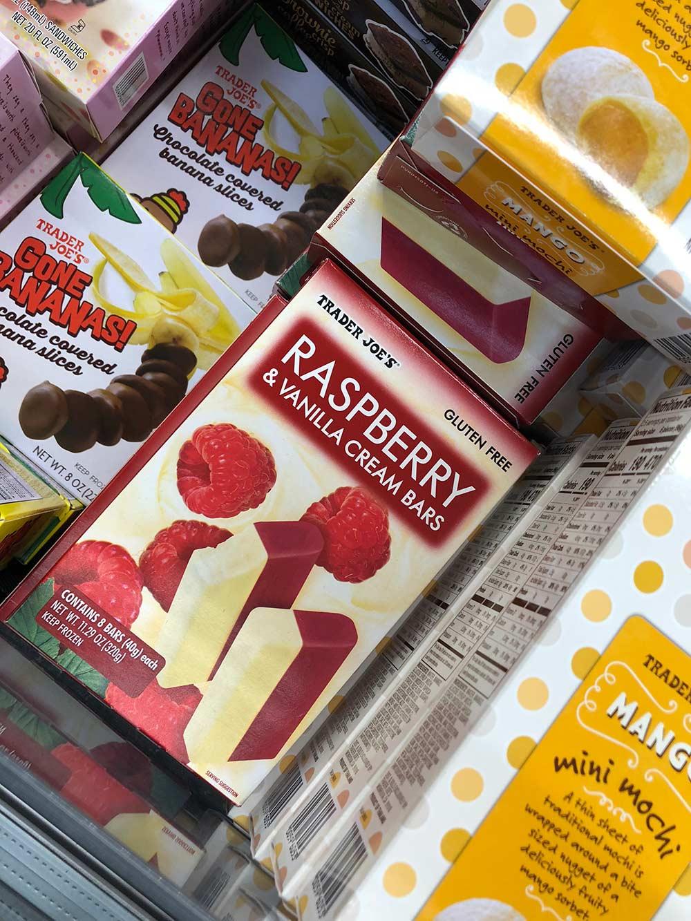 trader joes raspberry vanilla ice cream bars
